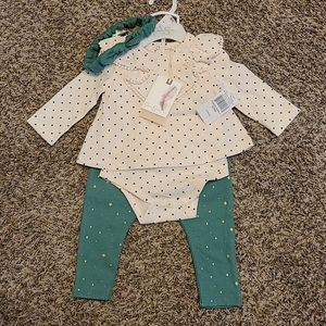 Jessica Simpson NWT Baby Girl Matching Outfit 6-9M